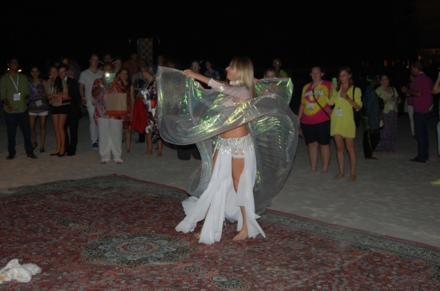 Belly dancing at EuroCHRIE