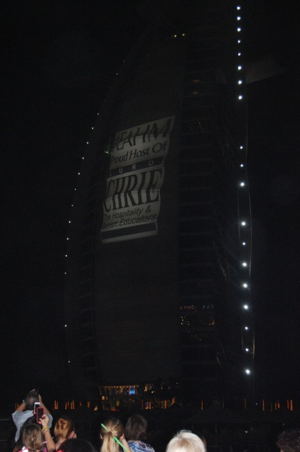 EuroCHRIE logo on the Burj al Arab!