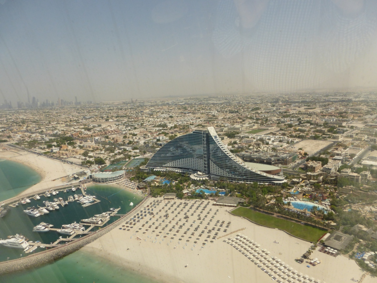 View of Jumeirah Beach Hotel from the Burj Al Arab