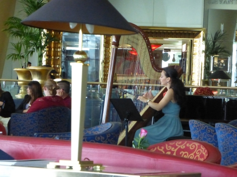 Harpist at High Tea